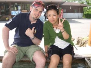 Masayo & I in Kagoshima, Japan